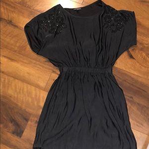 Express Satin Dress with Pockets!